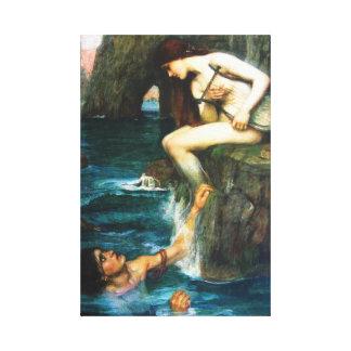 John William Waterhouse The Siren Canvas Print