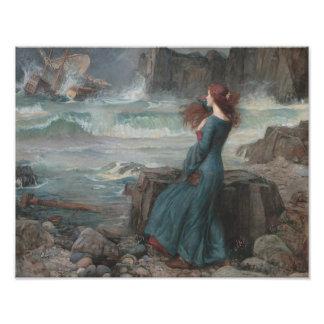 "John William Waterhouse ""The Tempest"" Print Photo Print"