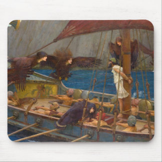 John William Waterhouse - Ulysses and the Sirens Mousepads