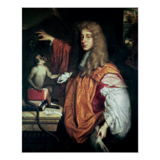 John Wilmot  2nd Earl of Rochester, c.1675 Poster