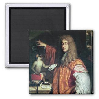 John Wilmot  2nd Earl of Rochester, c.1675 Square Magnet