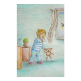 Johnny and fireflies personalized stationery