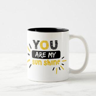Johnny Cash Lyric : You Are My Sunshine Two-Tone Coffee Mug