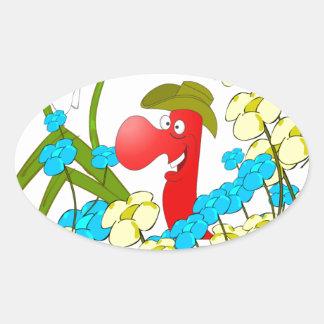 Johnny Condom Covered Oval Sticker