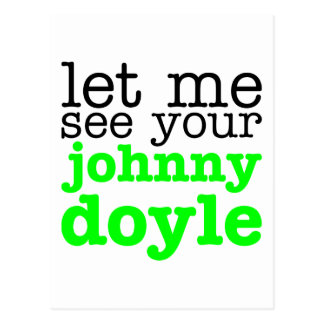 Johnny Doyle Green Postcard