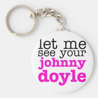 Johnny Doyle Pink Key Chain
