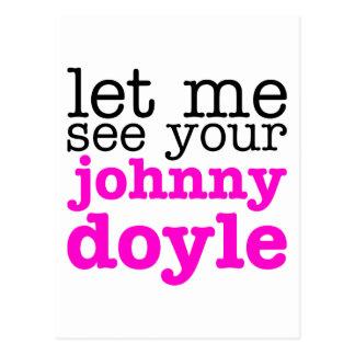 Johnny Doyle Pink Postcard