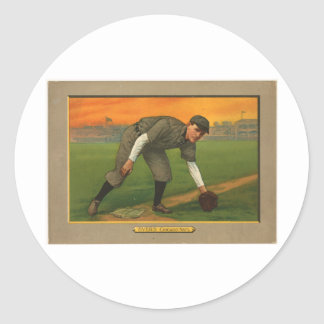 Johnny Evers Chicago Cubs 1911 Round Sticker