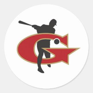 Johns Creek Generals Round Sticker