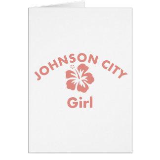 Johns Creek Pink Girl Greeting Cards