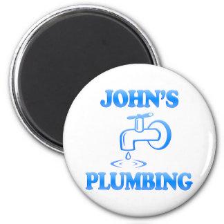 John's Plumbing 6 Cm Round Magnet