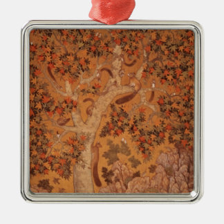 Johnson Album I, No.30 Squirrels on a plane Christmas Ornament