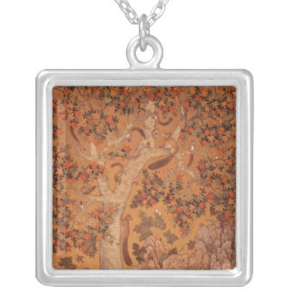 Johnson Album I, No.30 Squirrels on a plane Silver Plated Necklace