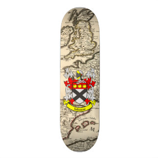 Johnson Coat Of Arms Britannia Old Map Background Skate Boards
