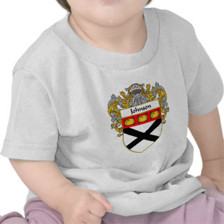 Johnson Coat of Arms (Mantled) T-shirts