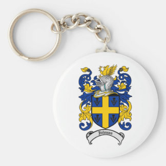 Johnson Family Crest - Coat of Arms Basic Round Button Key Ring