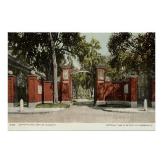 Johnson Gate Harvard University 1902 Poster