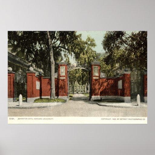 Johnson Gate Harvard University 1902 Poster