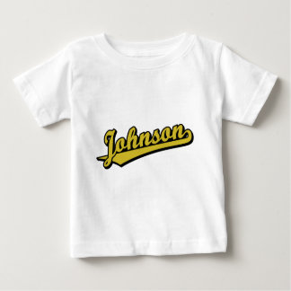 Johnson in Gold Tshirts
