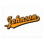 Johnson in Orange Postcard