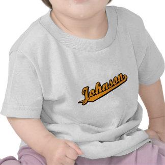 Johnson in Orange Tee Shirt