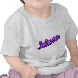 Johnson in Purple T-shirt