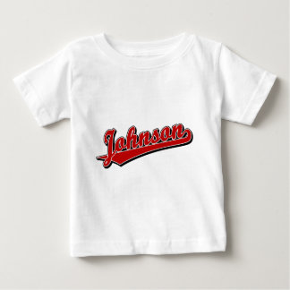 Johnson in Red Baby T-Shirt