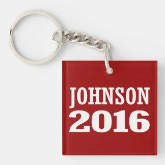 Johnson - Ron Johnson 2016 Double-Sided Square Acrylic Key Ring