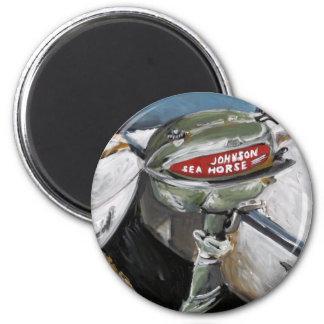 Johnson Sea Horse 6 Cm Round Magnet