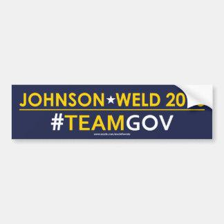 Johnson / Weld Libertarian Bumper Sticker #TEAMGOV