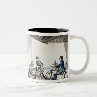 Johnson's Pedestrian Hobbyhorse Riding School Two-Tone Coffee Mug