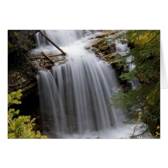 Johnston Canyon Waterfall Card