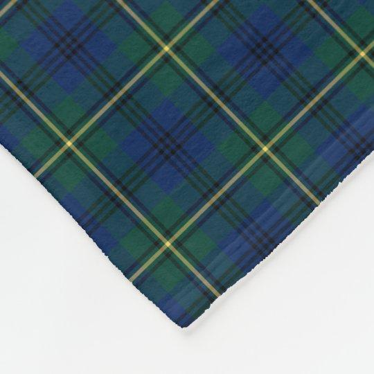 Johnston Clan Blue, Green and Yellow Tartan Fleece