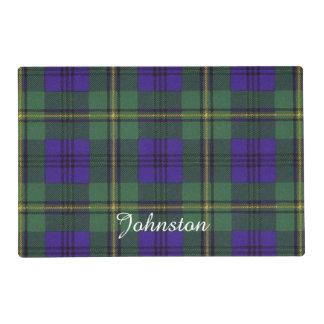 Johnston clan Plaid Scottish tartan Laminated Placemat