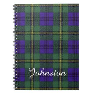 Johnston clan Plaid Scottish tartan Notebook
