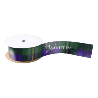 Johnston clan Plaid Scottish tartan Satin Ribbon