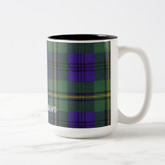 Johnston clan Plaid Scottish tartan Two-Tone Coffee Mug