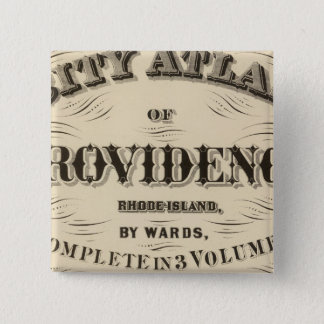 Johnston Rhode Island Very early Hopkins city 15 Cm Square Badge