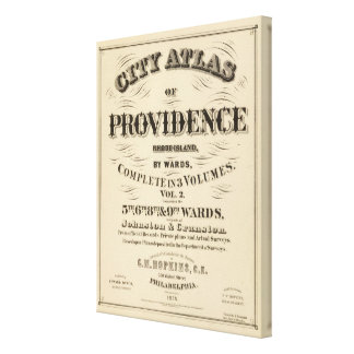 Johnston Rhode Island Very early Hopkins city Canvas Print