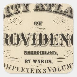 Johnston Rhode Island Very early Hopkins city Square Sticker