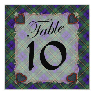 Johnston Scottish clan tartan - Plaid 13 Cm X 13 Cm Square Invitation Card