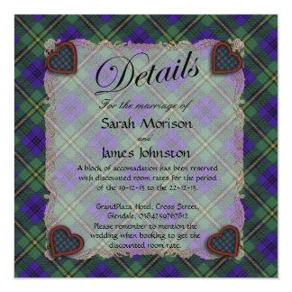 Johnston Scottish clan tartan - Plaid 13 Cm X 13 Cm Square Invitation Card