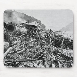 Johnstown Flood Train Wreck Vintage 1889 Mouse Mat