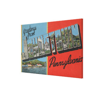 Johnstown, Pennsylvania - Large Letter Scenes Canvas Print
