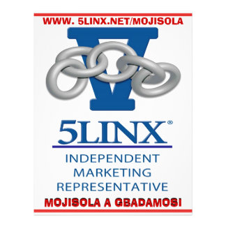 JOIN 5LINX NDEPENDENT MARKETING REPRESENTATIVE 21.5 CM X 28 CM FLYER