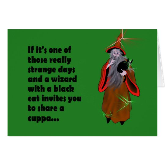 "Join a Wizard for a ""Cuppa"" Card"