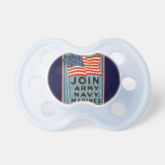 Join Army Navy Marines WPA 1917 Pacifiers