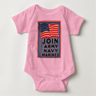 Join Army, Navy, Marines WPA 1917 Tee Shirts