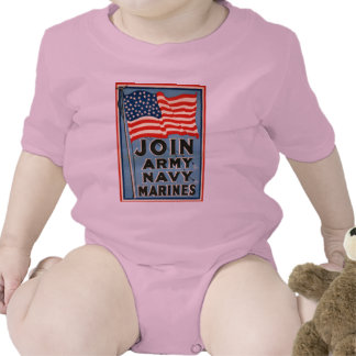 Join Army, Navy, Marines WPA 1917 Romper