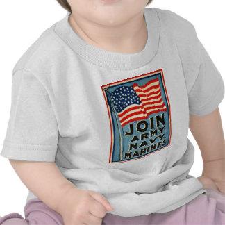 Join Army, Navy, Marines WPA 1917 T Shirts